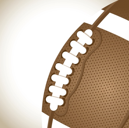 big and vintage ball of Football over brown background  Vector
