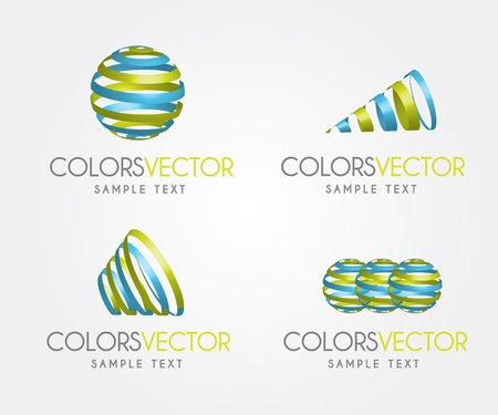 Colors vector over white background vector illustration Stock Vector - 17564574