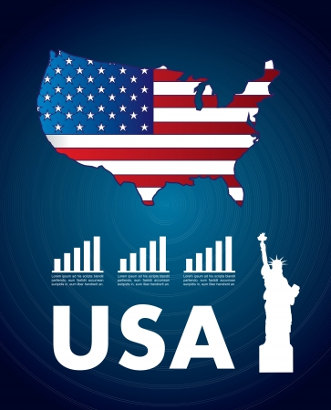 USA icons over blue background vector illustration Stock Vector - 17564491