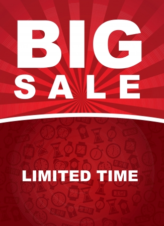 Big sale over red background vector illustration Stock Vector - 17564505