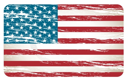 United States flag over white background vector illutration Vector