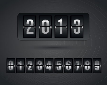 schedule system: New year icons over gray background vector illustration