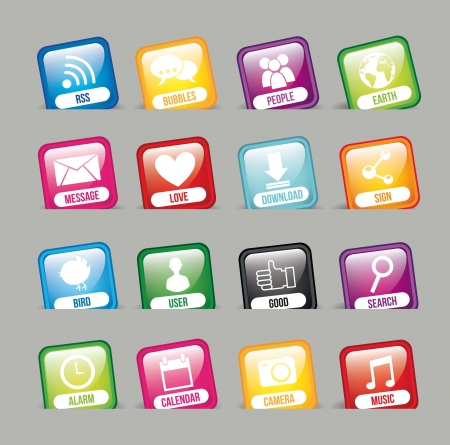 explote: colorful apps over gray background, app store. vector Illustration