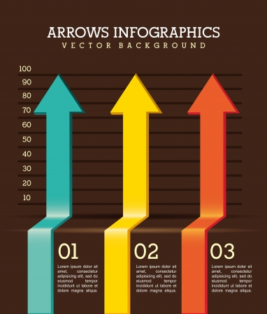 arrows infographics over brown background. vector illustration Stock Vector - 17564595