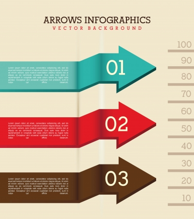 arrows infographics over beige background. vector illustration Vector
