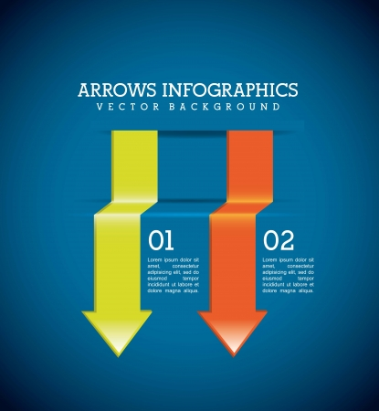 arrows infographics over blue background. vector illustration Stock Vector - 17564589