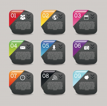 numbers labels over gray background.vector illustration Vector