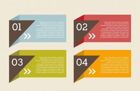 info graphics: numbers labels over beige background.vector illustration