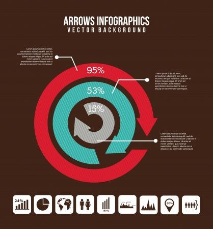 arrows infographics over brown background. vector illustration Stock Vector - 17564685