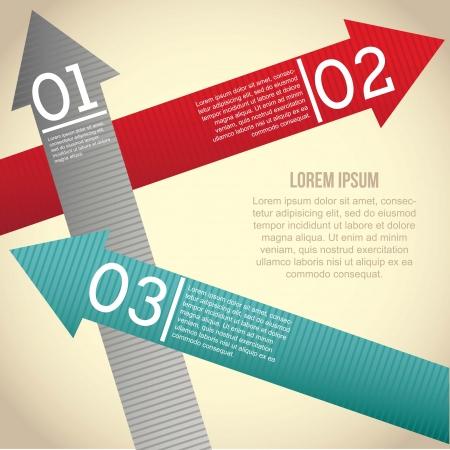 onward: arrows infographics over beige background. vector illustration
