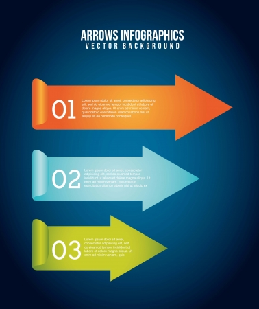 arrows infographics over blue background. vector illustration Stock Vector - 17564610
