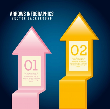 arrows infographics over blue background. vector illustration Stock Vector - 17564593