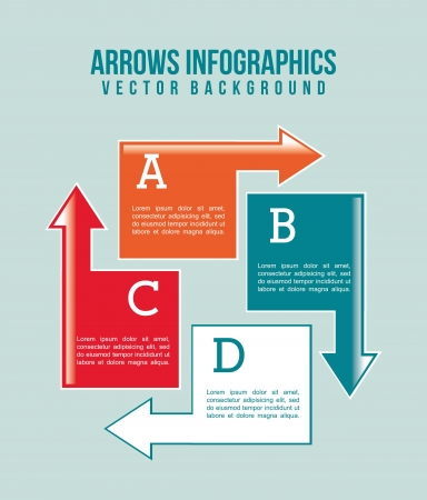 arrows infographics over blue background. vector illustration Vector