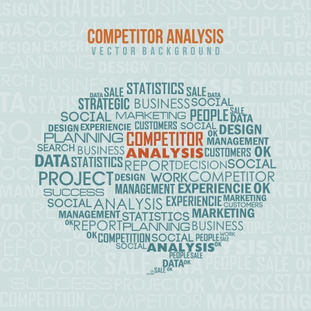 competitor analysis illustration with words. vector background Stock Vector - 17564840