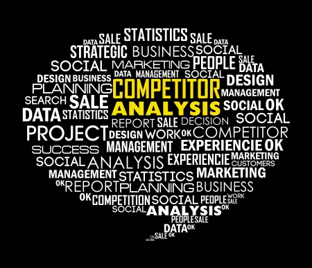competitor analysis illustration with words. vector background Stock Vector - 17564653