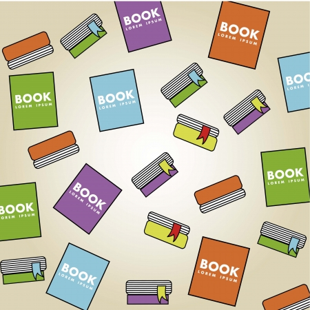 hardback: books cartoon over beige background. vector illustration
