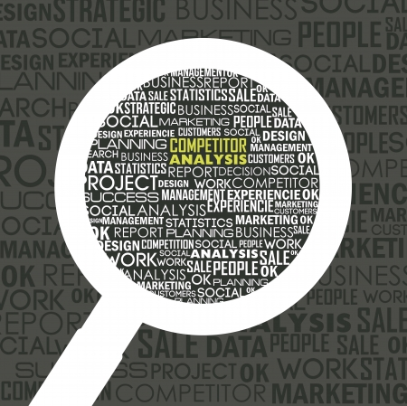 competitor analysis illustration with words. vector background Stock Vector - 17564839