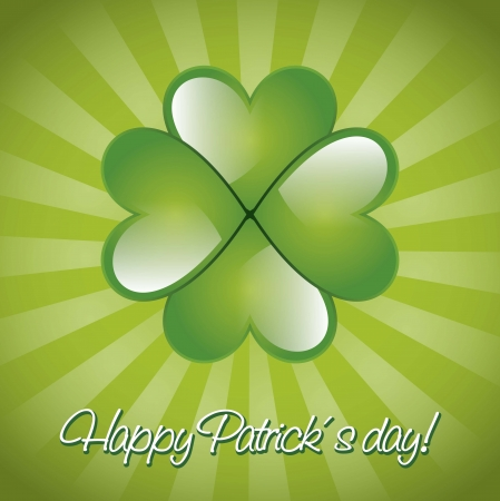 patrick�s day illustration with clover. vector illustration Stock Vector - 17564976