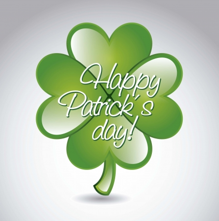 patrick�s day illustration with clover. vector illustration Stock Vector - 17564848