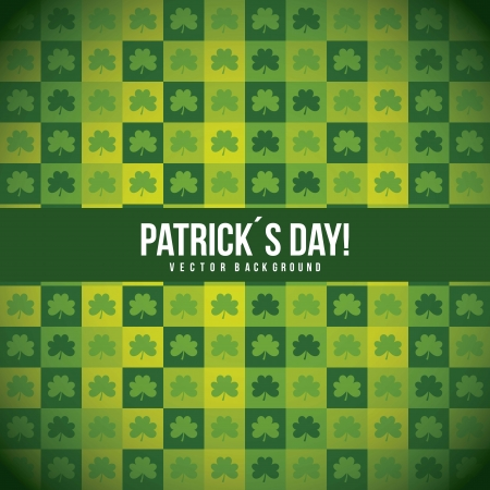 patrick�s day illustration with clover, pattern. vector Stock Vector - 17565039