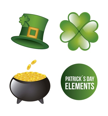 patricks day elements isolated over white background. vector Stock Vector - 17564759