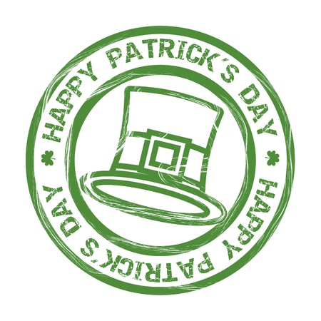 patricks day illustration with hat and clover. vector illustration Stock Vector - 17565012