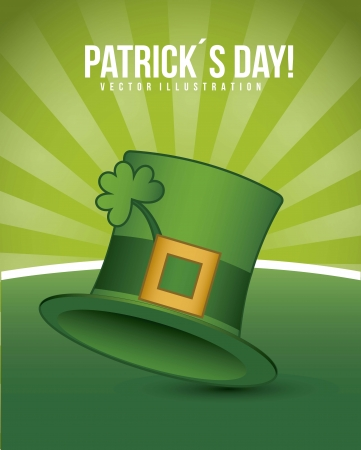 patricks day illustration with hat and clover. vector illustration Stock Vector - 17564996