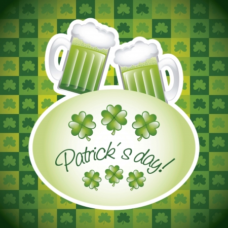 patricks day illustration with green beer. vector illustration Stock Vector - 17565035
