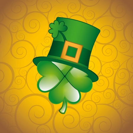 patrick�s day illustration with clover. vector illustration Stock Vector - 17564830