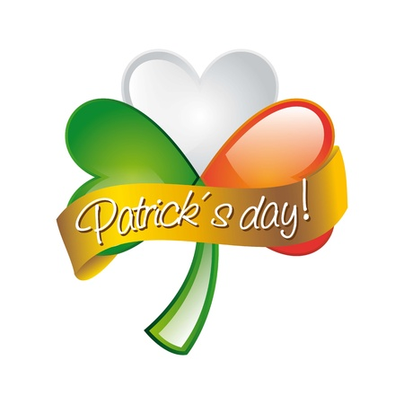 patrick´s day illustration with clover. vector illustration