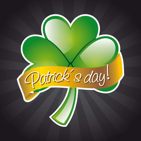 patrick�s day illustration with clover. vector illustration Stock Vector - 17564831