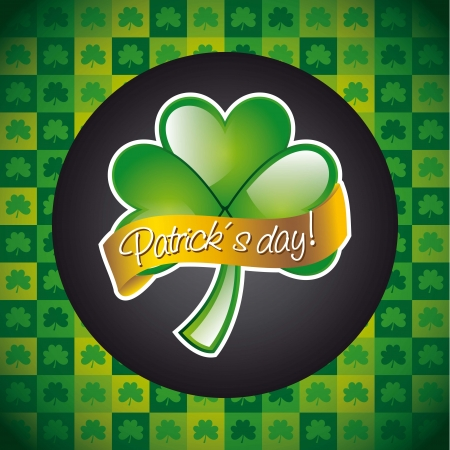 patrick�s day illustration with clover. vector illustration Stock Vector - 17565042