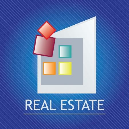 Home for sale Icon,  over dark blue background. vector illustration Vector