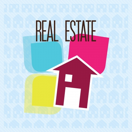 Home for sale Icon,  over blue background. vector illustration Stock Vector - 17623162