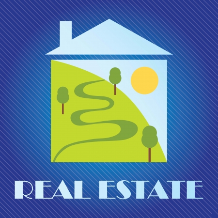 Home for sale Icon,  over dark blue background. vector illustration Stock Vector - 17623087
