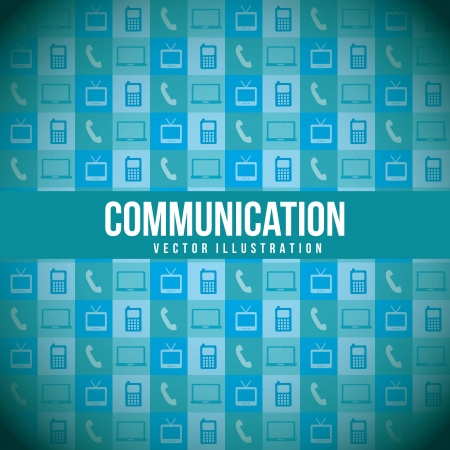 communication icons over blue background. vector illustration Stock Vector - 17677521