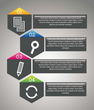 news update: gray seo labels over gray background. vector illustration