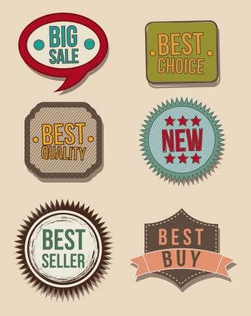 vintage labels over beige background. vector illustration