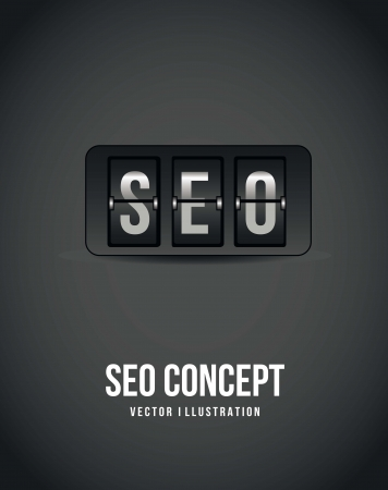 seo concept over gray background, count down. vector illustration Vector