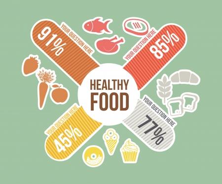 gezonde voeding concept, vintage stijl. vector illustratie