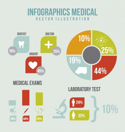 infographics medical with icons and bar. vector illustration Stock Vector - 17677457