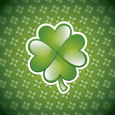 patrick�s day illustration with clover. vector illustration Stock Vector - 17677528