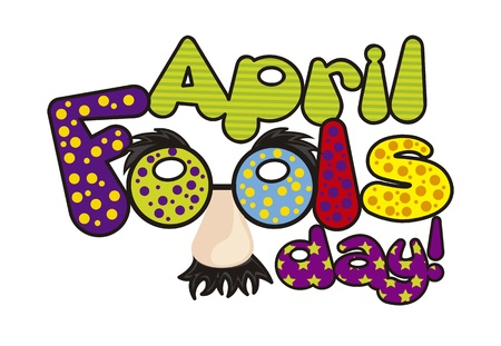 april foods day illustration with words. vector background Vector