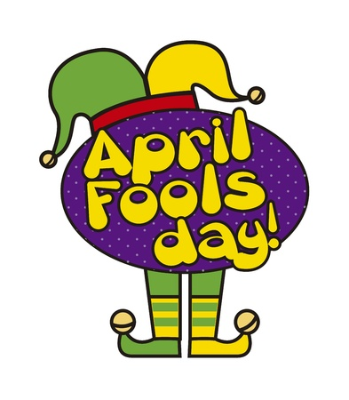 april foods day illustration with jester hat. vector background