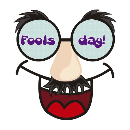 pranks: april foods day illustration with fun face. vector background