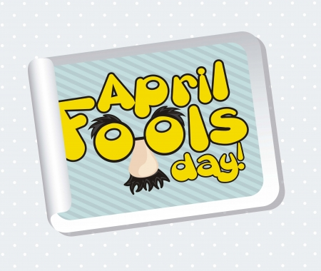 april foods day labels with fun face. vector illustration