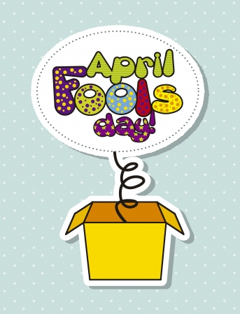 april foods day illustration with surprise box. vector illustration Stock Vector - 17677492