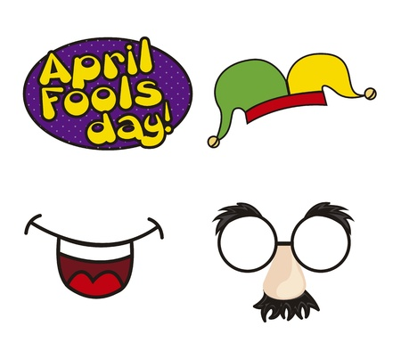 absurd: april foods day illustration with elements. vector background