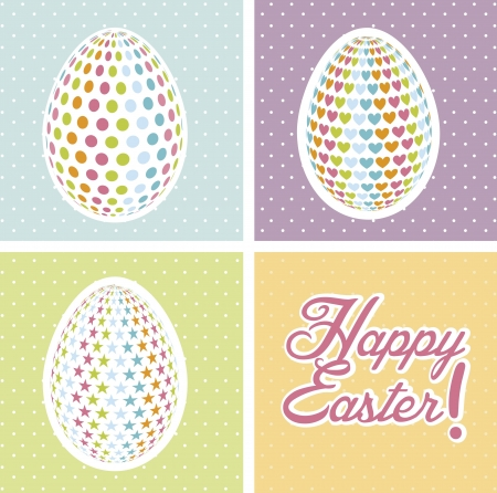 happy easter card,cute colors. vector illustration Stock Vector - 17677440