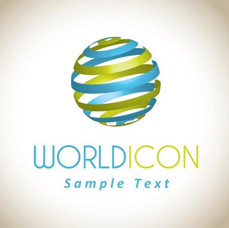 world icon over white background vector illustration Stock Vector - 17734301